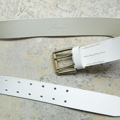 ichiAntiquités 500000 Leather Belt / C : WHITE