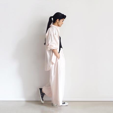 ichiAntiquités 600901 Cotton AZUMADAKI Volume Sleeve Shirt / 2 COLORS : WHITE・PINK