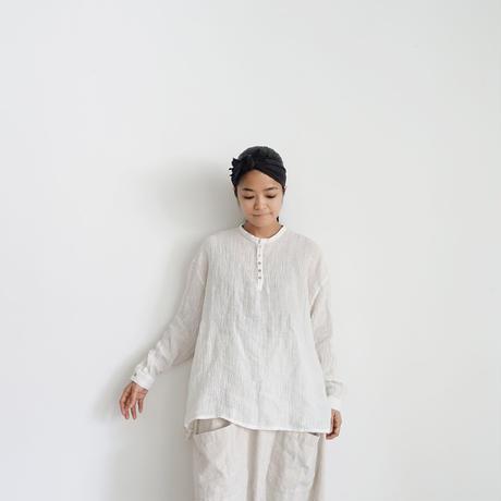 ichiAntiquités 500332 Linen Voile Pullover / WHITE