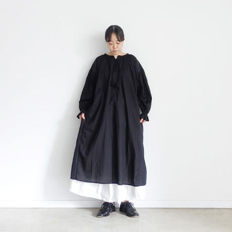 ichi 201030 Lace Up One Piece / D : BLACK