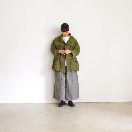 ichi 190426 Cotton Linen Wide Pants / Check