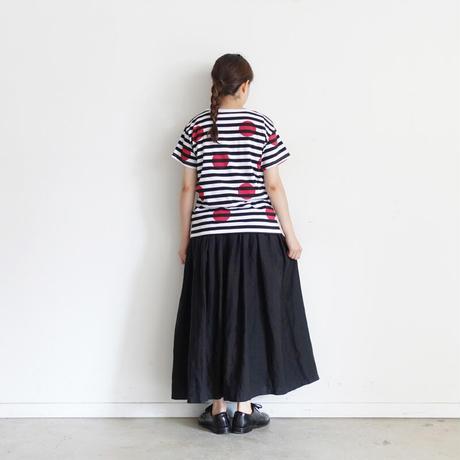 ichi210148 Border Dot T-shirt / 2 COLORS
