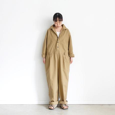 ichi 201009 Ripstop Jump Suit / A : BEIGE