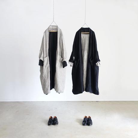 ichiAntiquités 100316 Linen Dress / GRAY