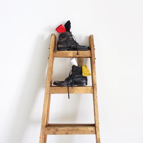 Loiter L019 Linen Color Rib Socks / 2 COLORS : COFFEE・BLACK