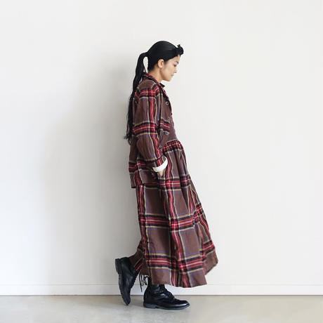 ichiAntiquités  700321 Wool Tartan Jacket / B : BROWN