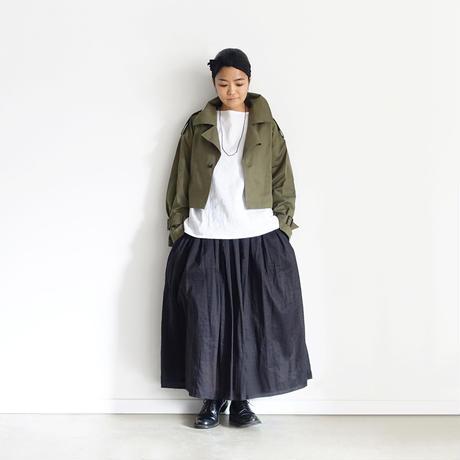 i c h i  201027 Volume Gather Skirt  / 2 COLORS
