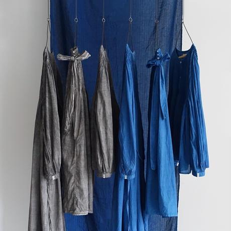ichiAntiquités  601245  Handdye KHADI Cotton Pintuck Flare  Skirt / B : INDIGO