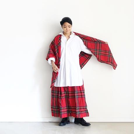 ichiAntiquités  700324 Wool Tartan Skirt / A : RED