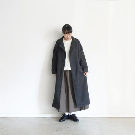 ichi 190530 Glen Check Coat / CHARCOAL