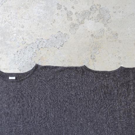 ichi 201057 Linen Poncho/ D : CHARCOAL