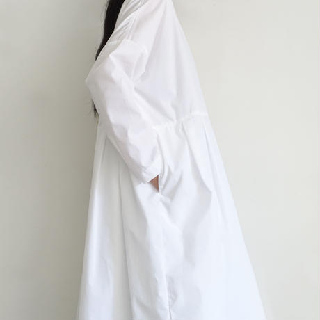 i c h i 200524 CLEANSE Broad Tuck Dress / A : WHITE