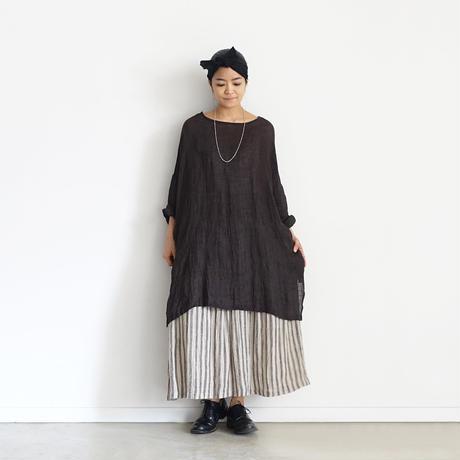 ichiAntiquités 601222  Linen Stripes Skirt / 2 COLORS