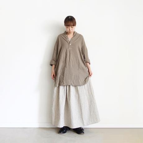 ichi 210537 Linen Cotton Stripe Skirt / B : RANDOM STRIPE