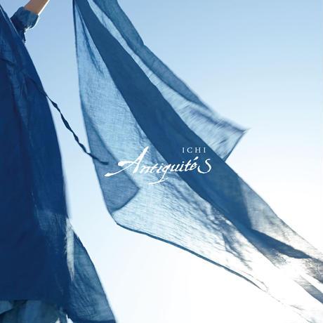 ichiAntiquités  601247  Natural Handdye Linen Volume Dress / A : INDIGO  LIGHT