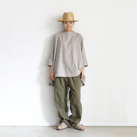 ichiAntiquités 601230 Cotton AZUMADAKI Over Blouse / A : GREIGE