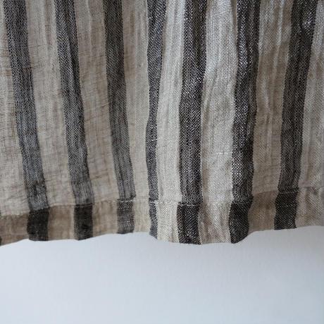 ichiAntiquités 601220  Linen Stripes Over Blouse / 2 COLORS