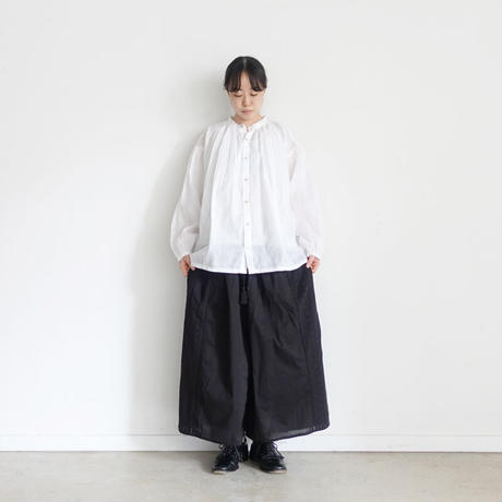 ichi 201031 Embroidery Wide Pants / 2 COLORS