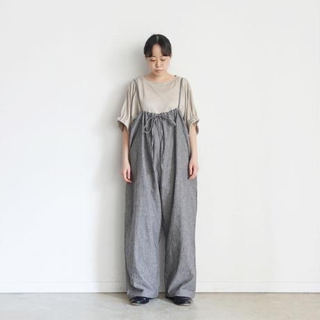 ichi 201127 3 Way Salopette Pants / C : BLACK
