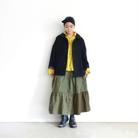 ichiAntiquités 600638 Wool Alpaca Mosser Jacket / C : BLACK