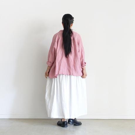 ichiAntiquités 600909 Color Linen Shirt / 2 COLORS : GREIGE・PINK