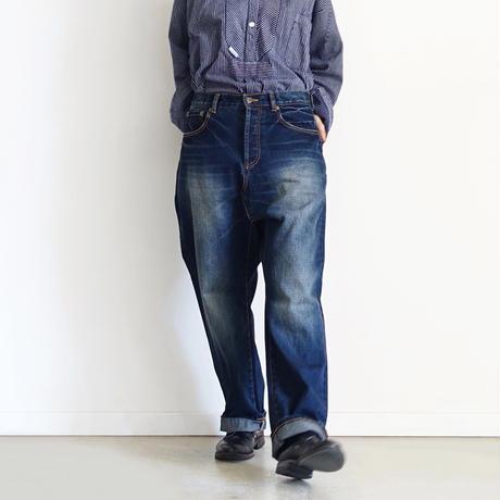 ichi 201141 New Denim Sarrouel Pants / B : DARK・2 SIZE