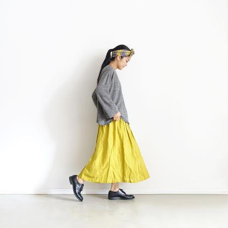 ichiAntiquités 500326 Italy Linen  Skirt / YELLOW