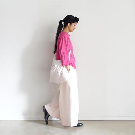 【ONLINE LIMITED】ichiAntiquités 600938 Cotton AZUMADAKI Relax Pants + BAG / B : PINK