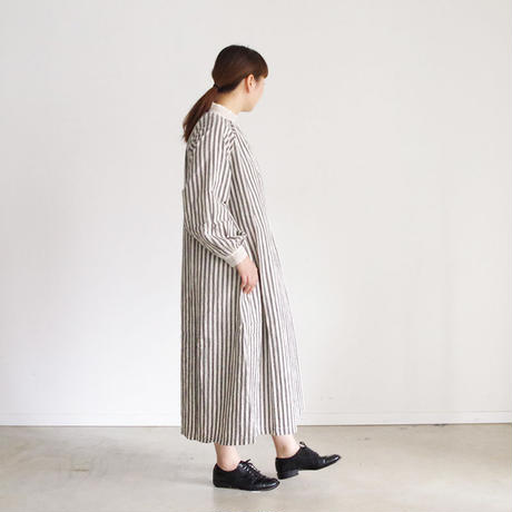 i c h i 181024 C/L Stripe Dress / Black