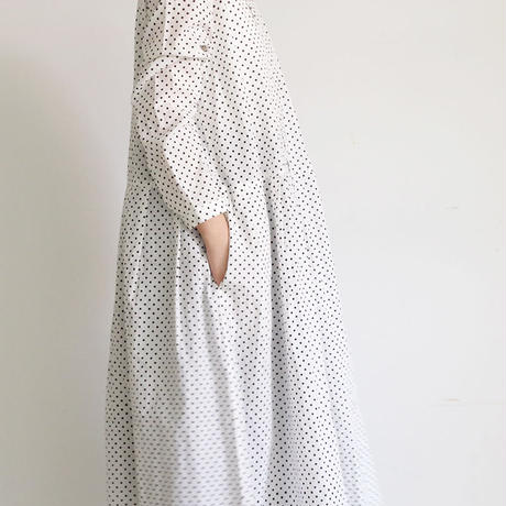 i c h i 181008 Dot Dress  / White