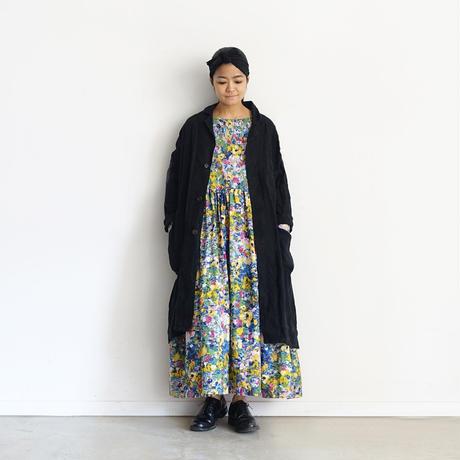 【ONLINE LIMITED】i c h i  201143 Painting Flower Volume Dress / B : BLUE