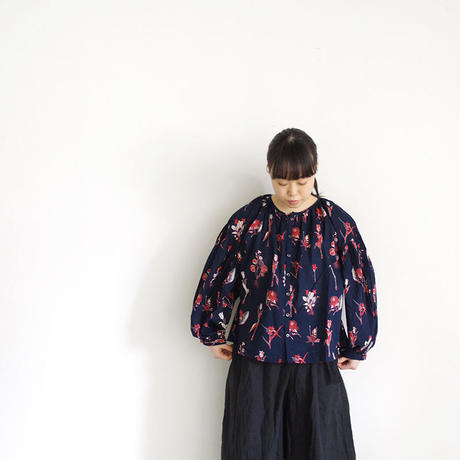 i c h i 181016 Botanical Flower Blouse / Navy