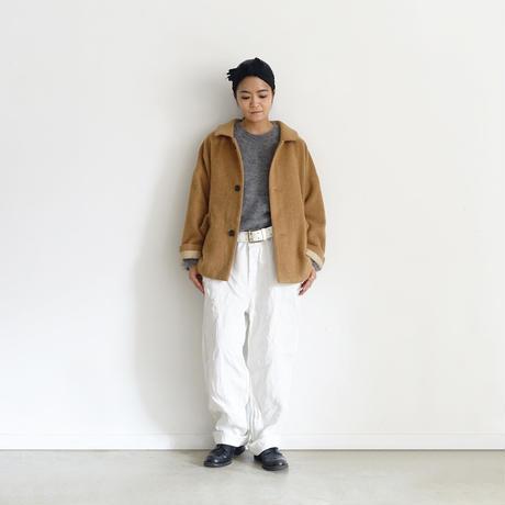 ichiAntiquités 500000 Leather Belt / WHITE