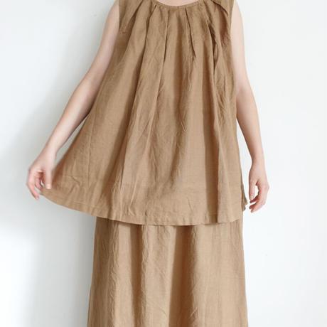 ichi 210123 Linen Sleeveless Pullover / 3 COLORS