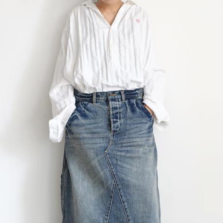 ichi 201142 Denim Skirt / A : LIGHT・2 SIZE