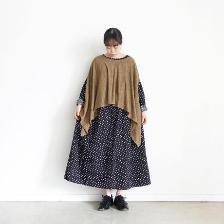 ichi 201057 Linen Poncho / C : KHAKI