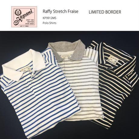 ◆限定ボーダー柄◆KP9912MS / PoloShirts / Cut & Sewn  ストレッチフライス