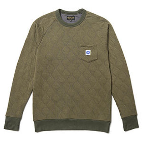 QUILTED MILITARY RAGLAN SLEEVE SHIRT