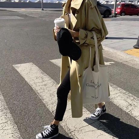 ゆったりコート フェミニン ロング丈 コート ロングコート ダブル お出かけ 大きいサイズ レディース アウター