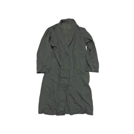 【チェコ軍】 ストライプ柄 後染め ワークコート 緑系 雰囲気◎