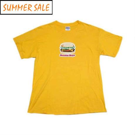 【ビースティボーイズ】 ハンバーガーのプリント Tシャツ Lサイズ 珍種