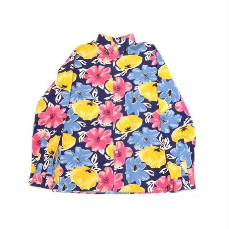 【SUZIE B. LONDON】 イギリス製 グッドカラー! 花柄シャツ Mサイズ