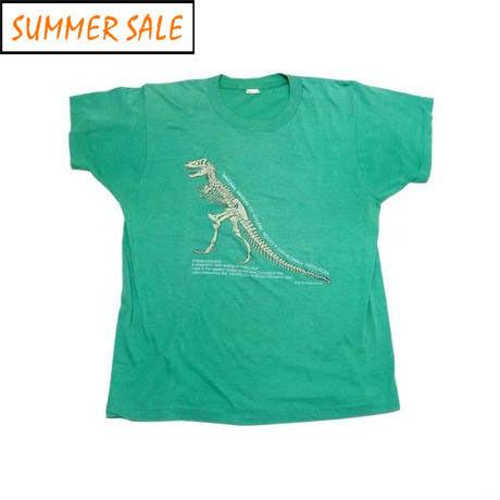 【アメリカ古着】 80s ティラノサウルスの化石 グッドプリント! Tシャツ