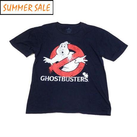 【ゴーストバスターズ】 オフィシャル物 ひび割れ加工プリント Tシャツ Lサイズ