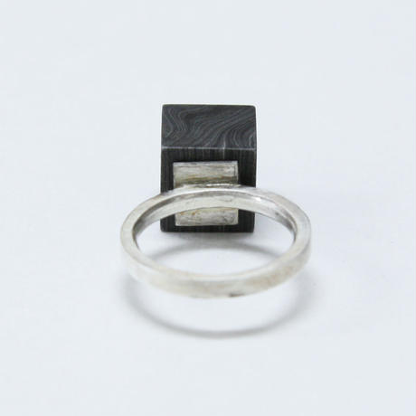 DAMASCUS CUBE RING(5号)/ KOSUKE KATO