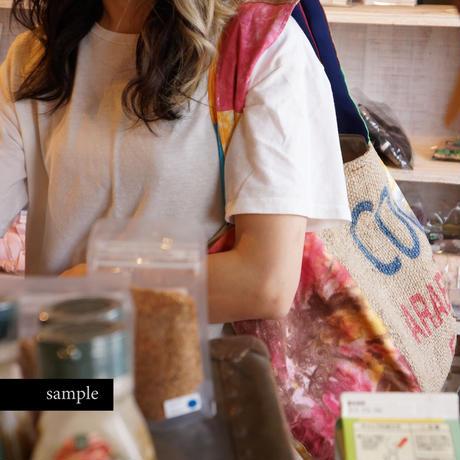 522|東ティモールのコーヒー麻袋×タイダイ染め ボニートート(size/L)