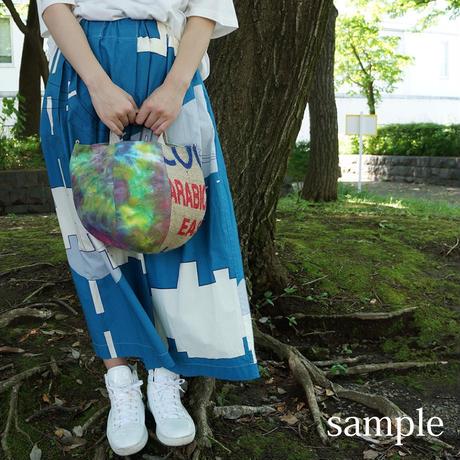 363|帆布タイダイ染め×東ティモール麻袋 ボニー(size/S)