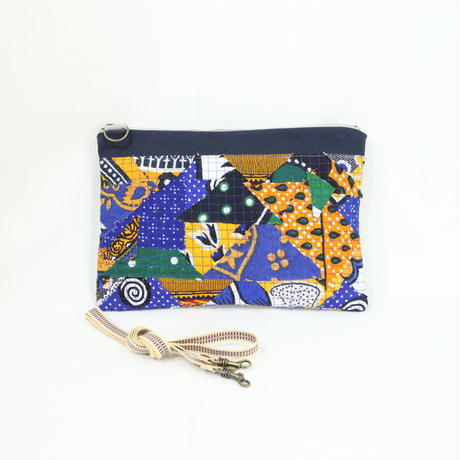 014|cut 布のかけらを集めたポーチ(Kenya)