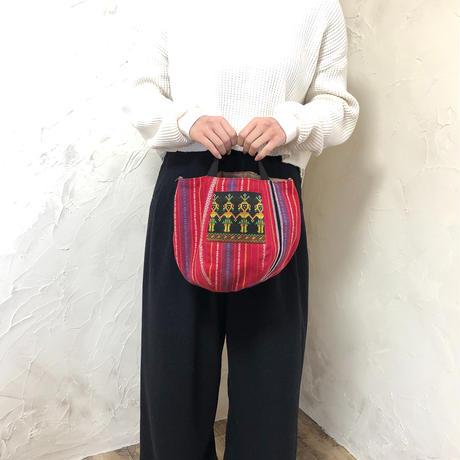 465 台湾伝統柄 ボニーバッグ(size/S)本革ショルダー付き