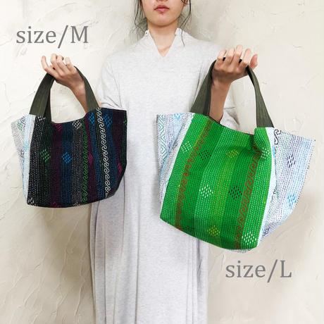 327|インド・カンタ刺繍トート(C)(size/M)
